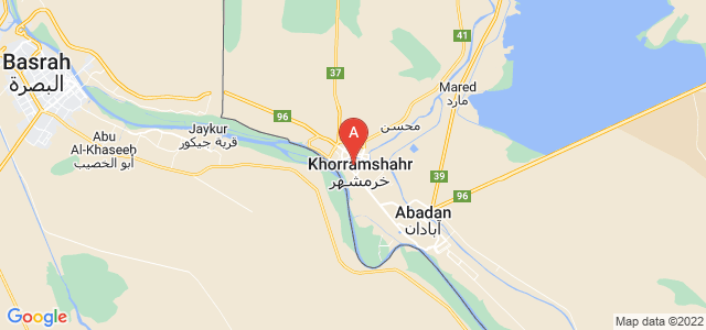 map of Khorramshahr, Iran