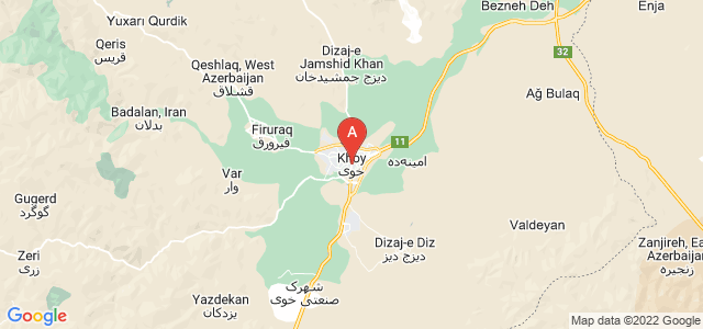 map of Khoy, Iran