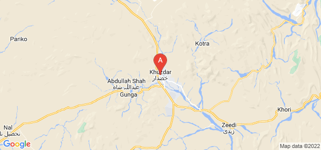 map of Khuzdar, Pakistan