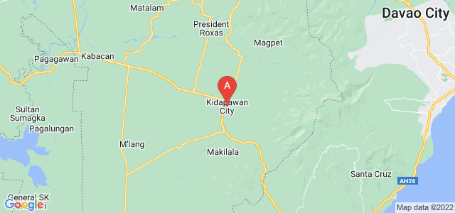 map of Kidapawan, Philippines