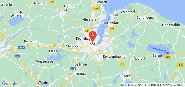map of Kiel, Germany