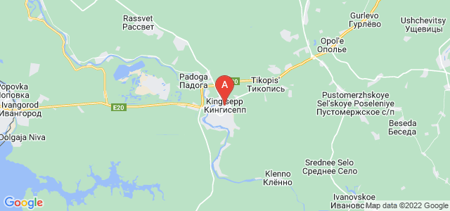 map of Kingisepp, Russia