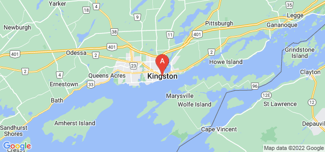 map of Kingston, Canada