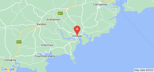 map of Kinsale, Republic of Ireland
