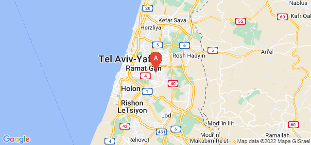 map of Kiryat Ono, Israel