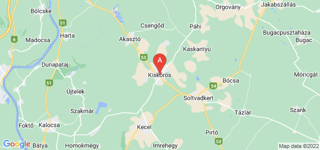 map of Kiskőrös, Hungary