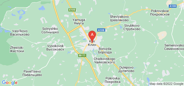map of Klin, Russia