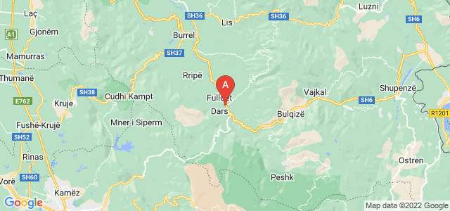 map of Klos, Albania