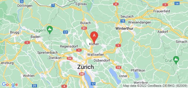 map of Kloten, Switzerland