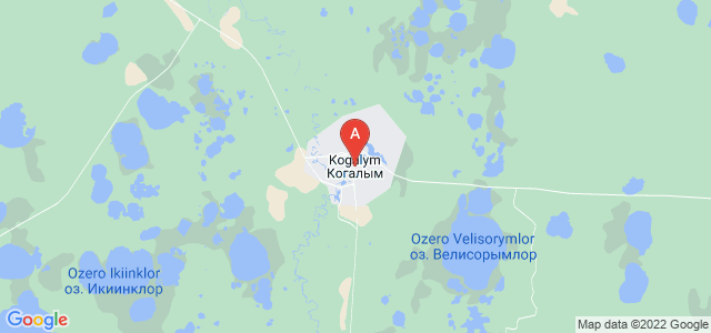 map of Kogalym, Russia