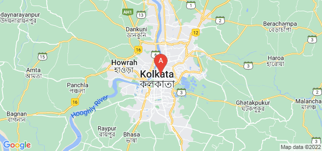 map of Kolkata, India