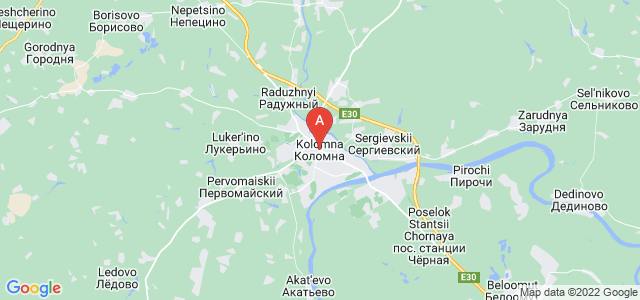 map of Kolomna, Russia