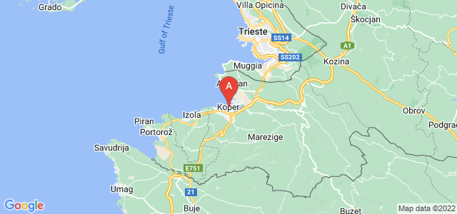 map of Koper, Slovenia