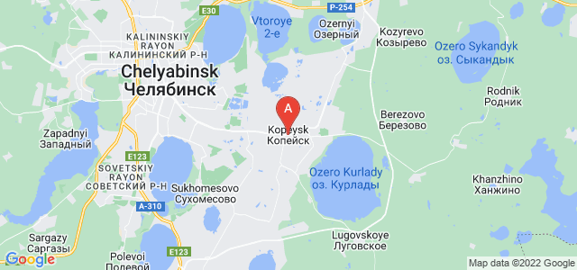 map of Kopeysk, Russia