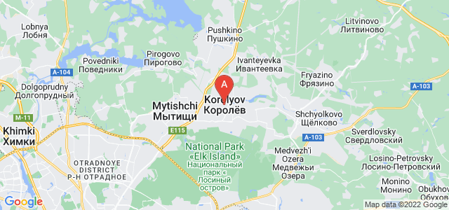 map of Korolyov, Russia
