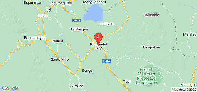 map of Koronadal, Philippines