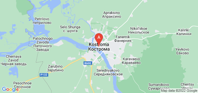 map of Kostroma, Russia