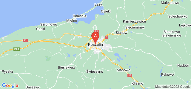 map of Koszalin, Poland