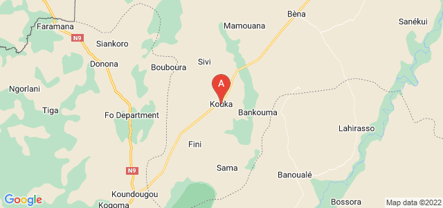 map of Kouka, Banwa, Burkina Faso