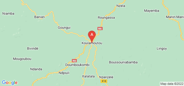 map of Koulamoutou, Gabon