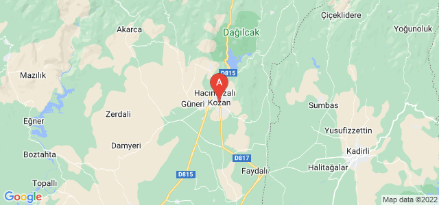map of Kozan, Turkey