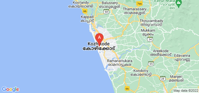 map of Kozhikode, India