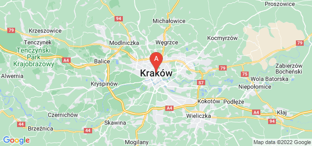 map of Kraków, Poland