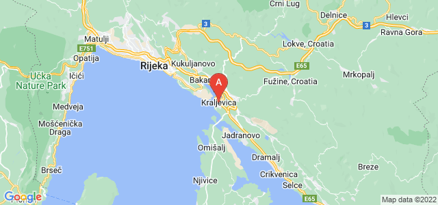 map of Kraljevica, Croatia