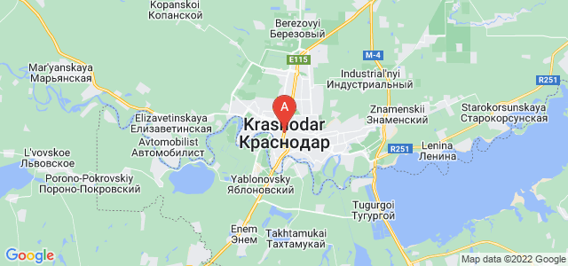 map of Krasnodar, Russia