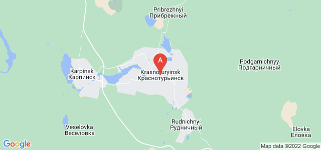map of Krasnoturyinsk, Russia