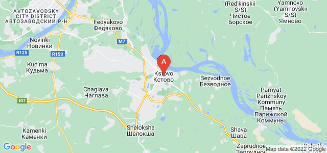map of Kstovo, Russia