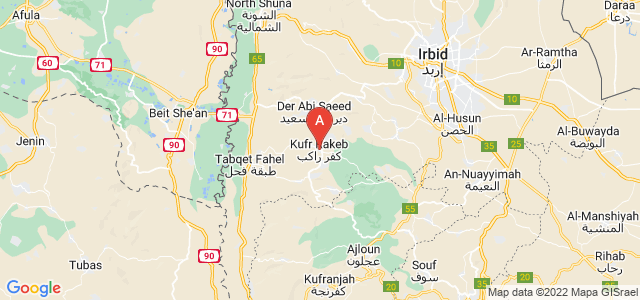 map of Kufr Rakeb, Jordan