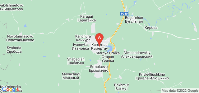 map of Kumertau, Russia