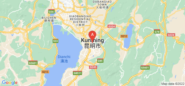 map of Kunming, China