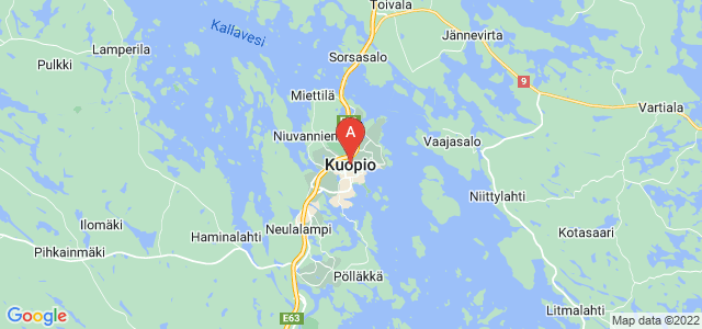 map of Kuopio, Finland