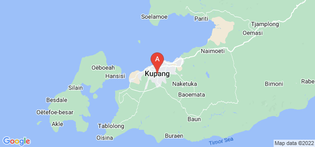 map of Kupang, Indonesia