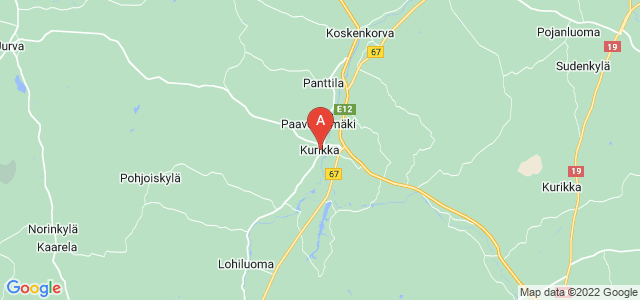 map of Kurikka, Finland