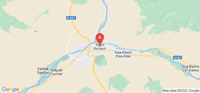 map of Kyzyl, Russia