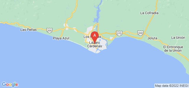 map of Lázaro Cárdenas, Mexico