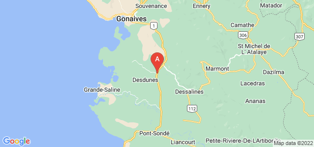 map of L'Estère, Haiti