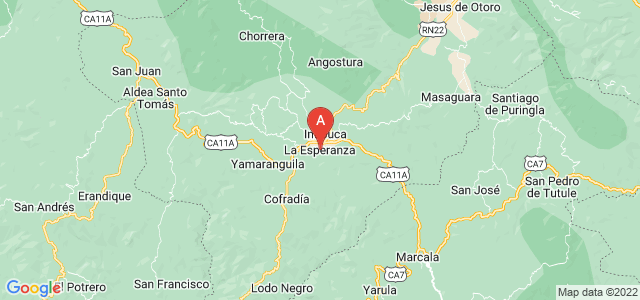 map of La Esperanza, Honduras