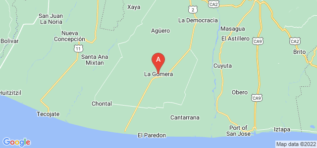 map of La Gomera, Guatemala