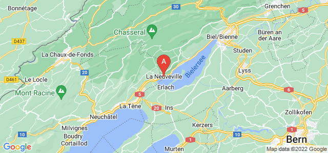 map of La Neuveville, Switzerland