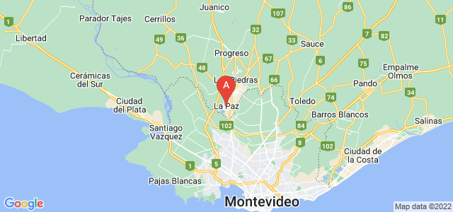 map of La Paz, Uruguay