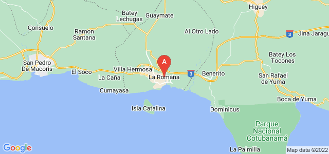 map of La Romana, Dominican Republic