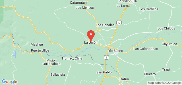 map of La Unión, Chile