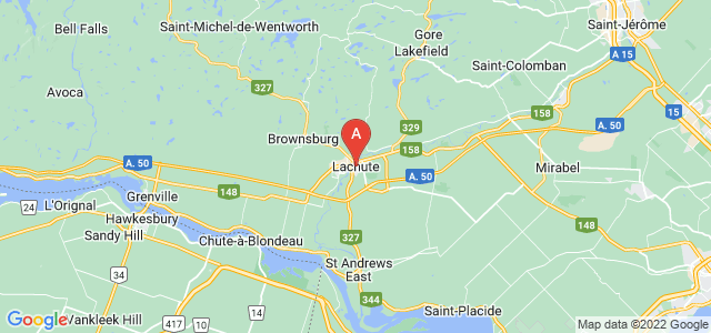 map of Lachute, Canada
