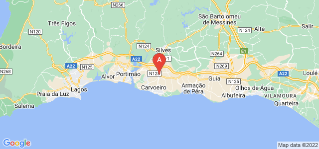 map of Lagoa, Portugal