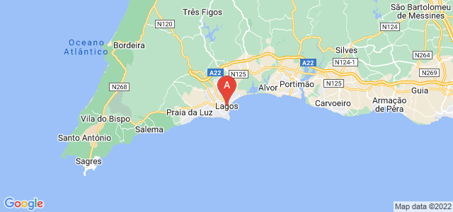 map of Lagos, Portugal