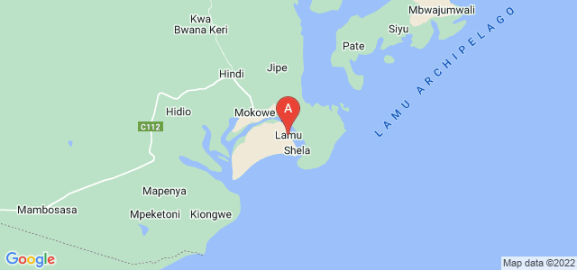 map of Lamu, Kenya